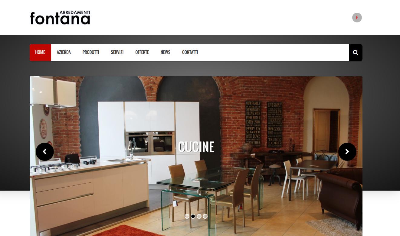 online il nuovo sito arredamenti fontana