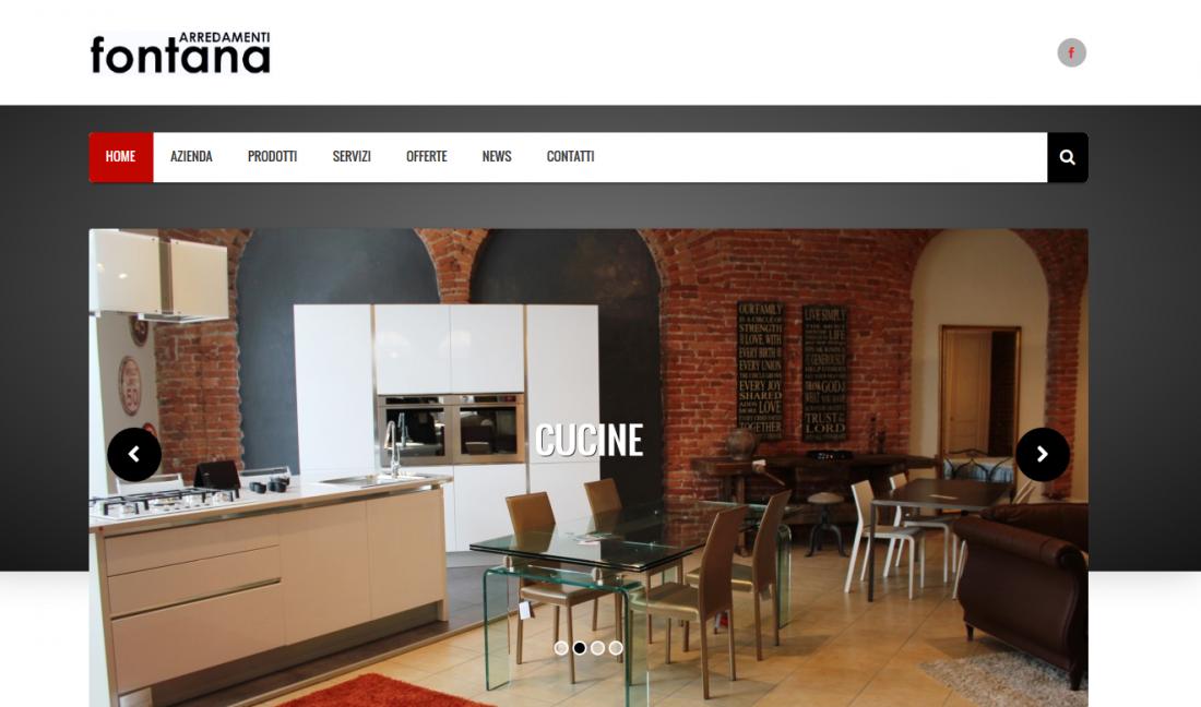 Online il nuovo sito arredamenti fontana for Fontana arredamenti